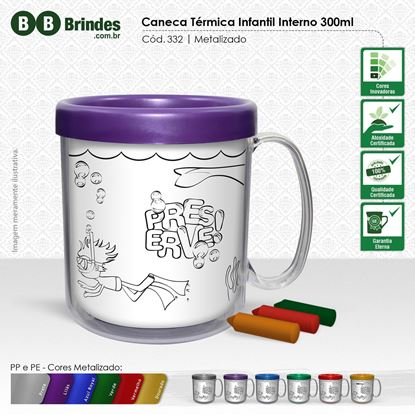 Imagem de Caneca térmica Infantil 300mL