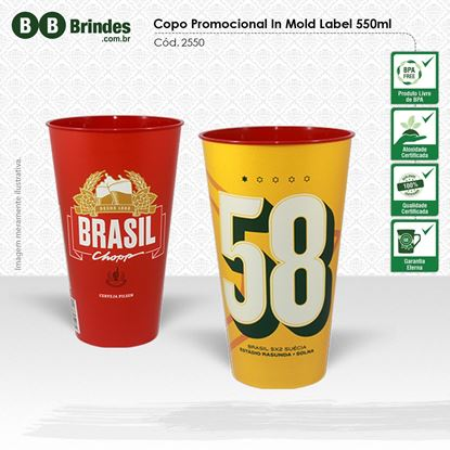 Imagem de Copo Promocional in Mold Label 550mL